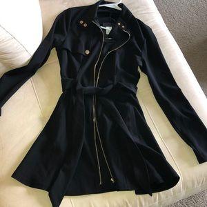 Fashion Nova Black Trench Coat